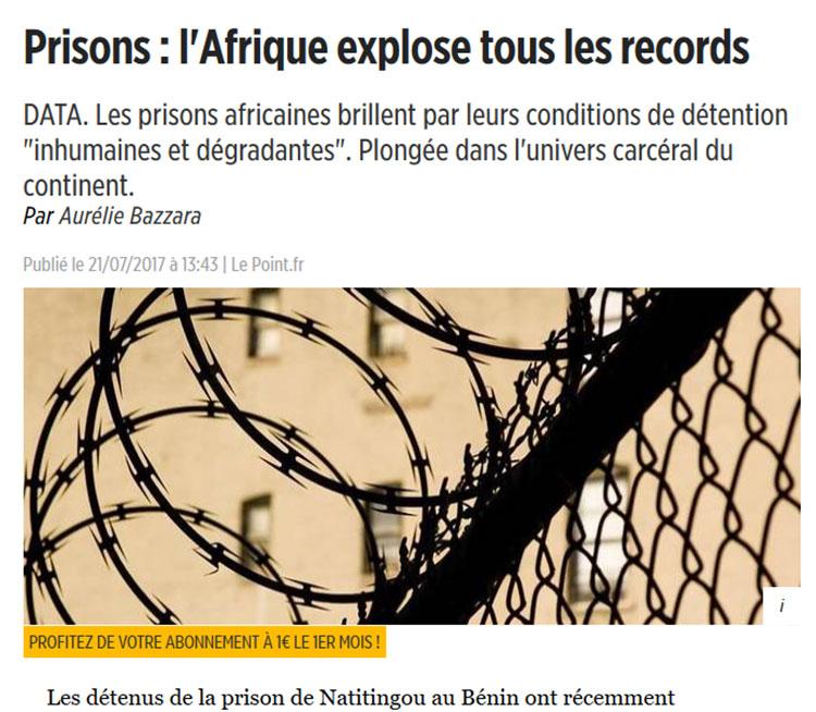 Prisons : l'Afrique explose tous les records - PRSF
