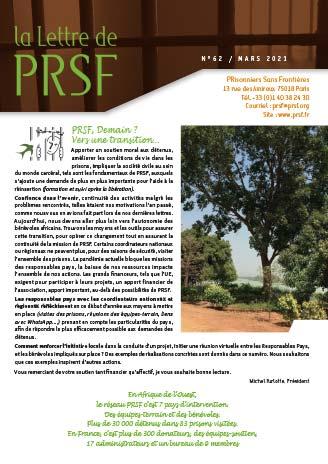 La Lettre 62 est disponible - PRSF