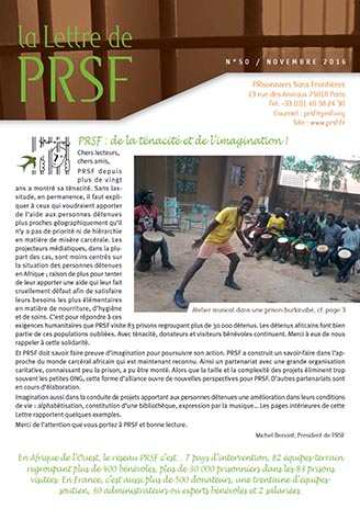 Première page de la Lettre n°50 de PRSF