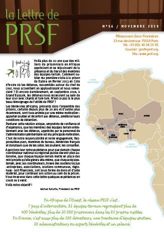 Première page de la Lettre n°56 de PRSF