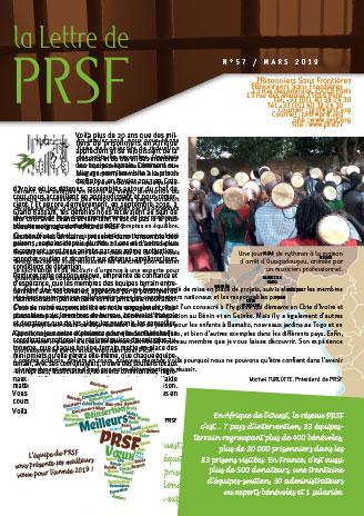 Première page de la Lettre n°57 de PRSF
